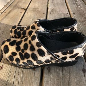 Dansko | Calf Hair Animal Print Clogs